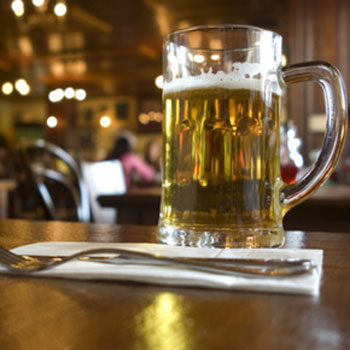 Pubs are selling fewer pints than four years ago
