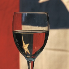 glass reflecting Chile flag copy