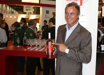 David Ginola with a bottle of his award-winning rosé