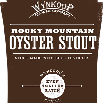 Rocky Mountain Oyster Stout is made with bull's testicles