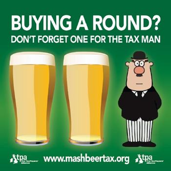 Mash Beer Tax campaign