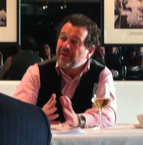 Michel Chapoutier addresses his audience at the annual Mentzendorff tasting in London