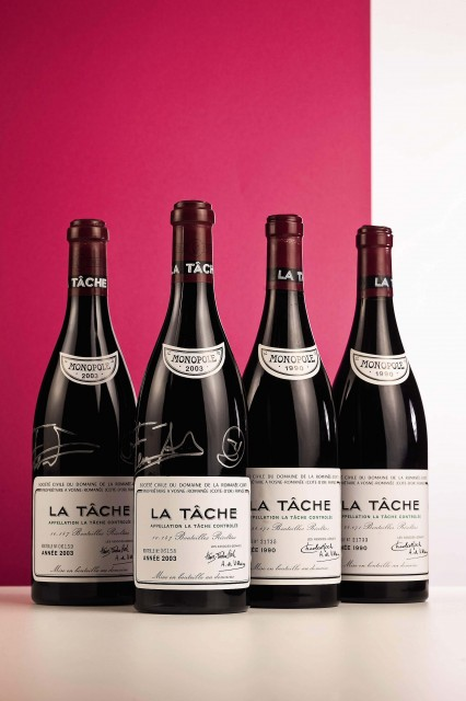 Top lot? Two bottles of La Tâche 2003 signed by Adrià