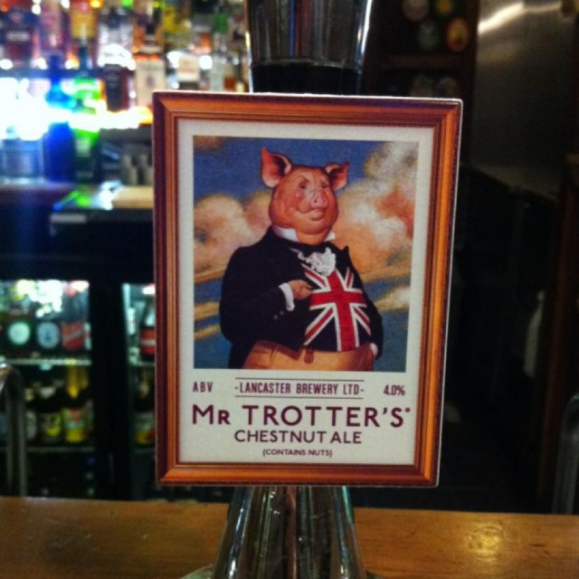 Mr Trotter's Chestnut Ale, brewed by the Lancaster Brewery