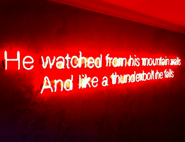 A Tennyson (mis)quote on the staircase of The Social Eating House