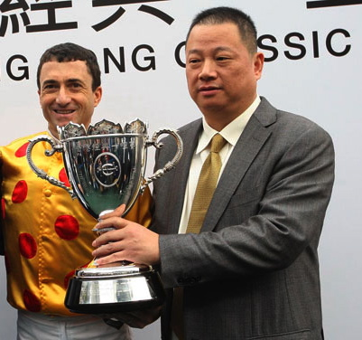 Sutong Pan (right) has more than race wins to celebrate