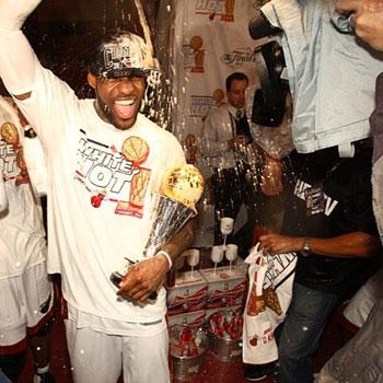 Miami Heat runs up US$100k Champagne bill