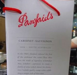 "Fake Penfolds being sold as ""Panfaids"" in China"