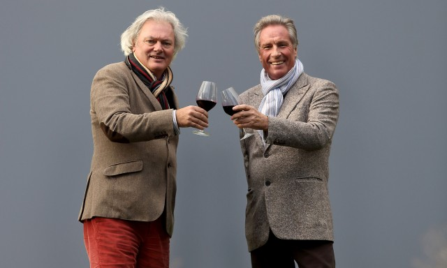 "Angélus owner Hubert de Boüard (left) and Pavie owner Gerard Perse's decision to put their 2012 prices up has been criticised as ""arrogant"""