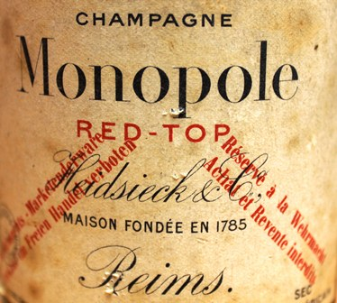 Detail from the Heidsieck label