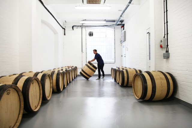 Rolling out the barrels at the captital's first urban winery, London Cru