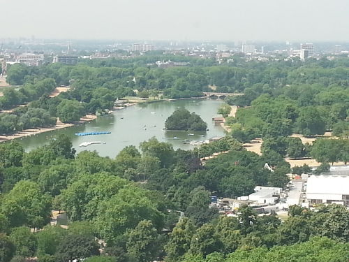 The amazing view of Hyde Park from Galvin