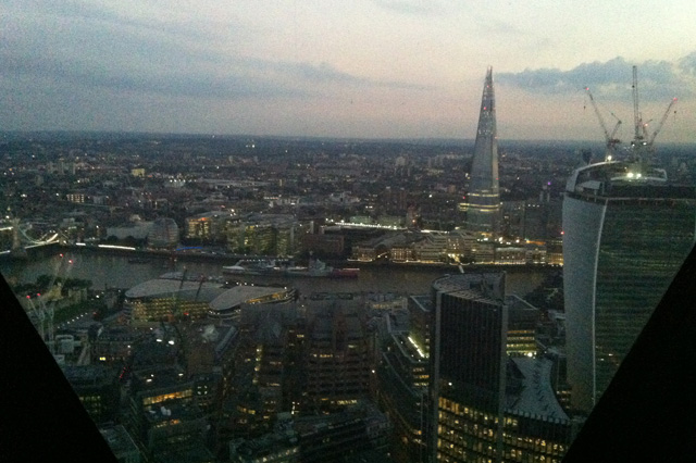 The view from the Gherkin