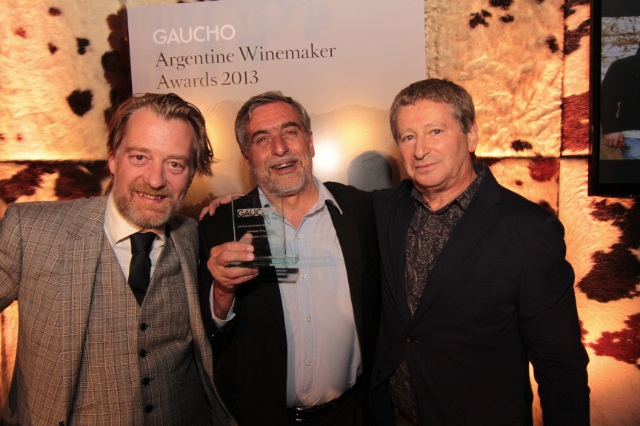 l-r Phil Crozier, José Alberto Zuccardi and Anthony Rose