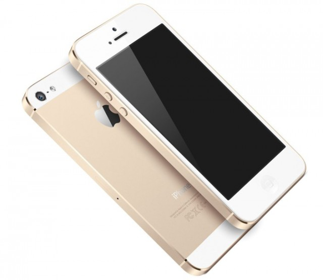 "The new ""Champagne""-coloured iPhone 5S"