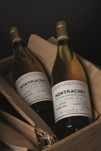One of the disputed lots: 1978 DRC Montrachet