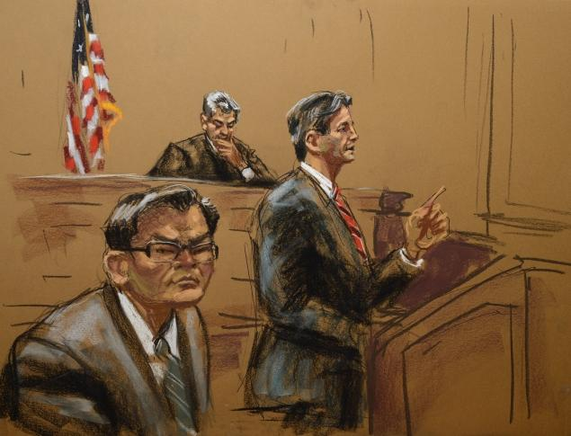 Dressed in a grey suit, Rudy Kurniawan sat expressionless in court. Credit: Jane Rosenberg/New York Daily News