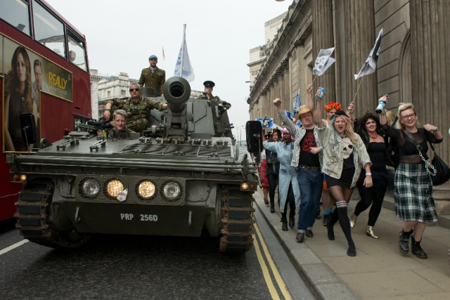 BrewDog launched Equity for Punks by driving a tank to the Bank of England