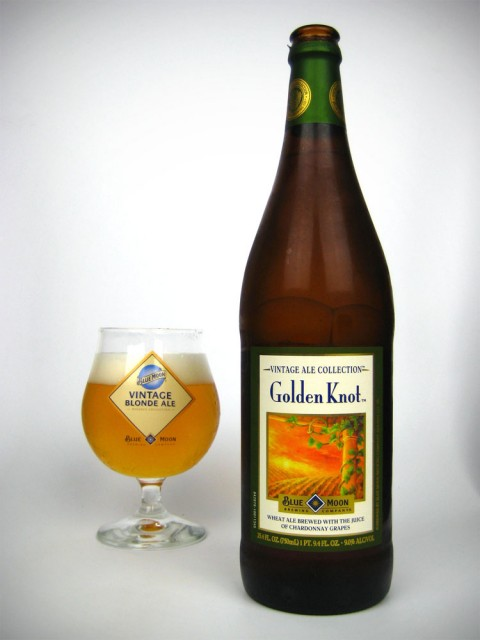 Blue Moon Golden Knot is made with Chardonnay grapes and wheat
