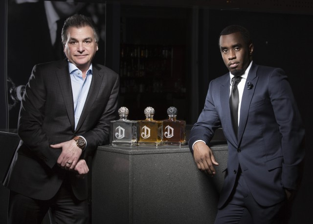 "Sean ""Diddy Combs"" with Larry Schwartz, president of Diageo north America"