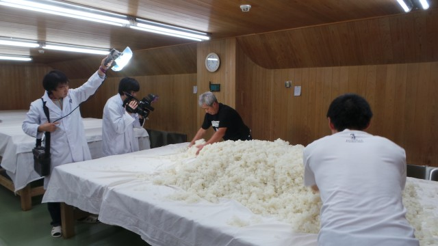 Filming Sake Production