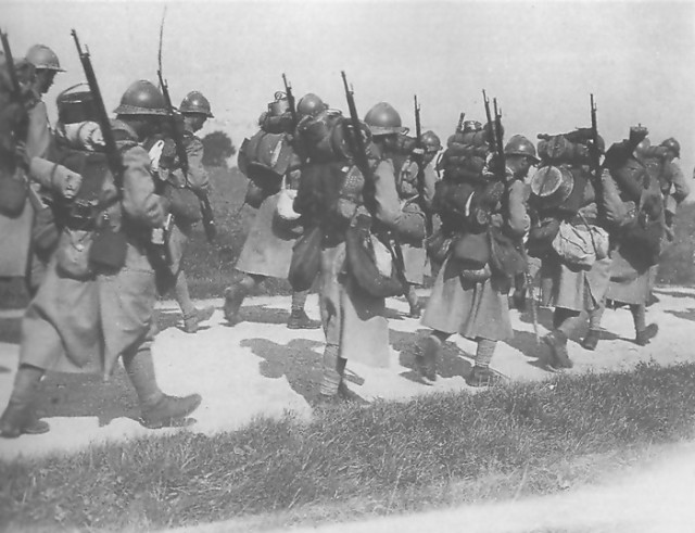 On the march France WW1