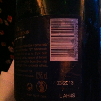 Moët shows the disgorgement date on its 2006 vintage