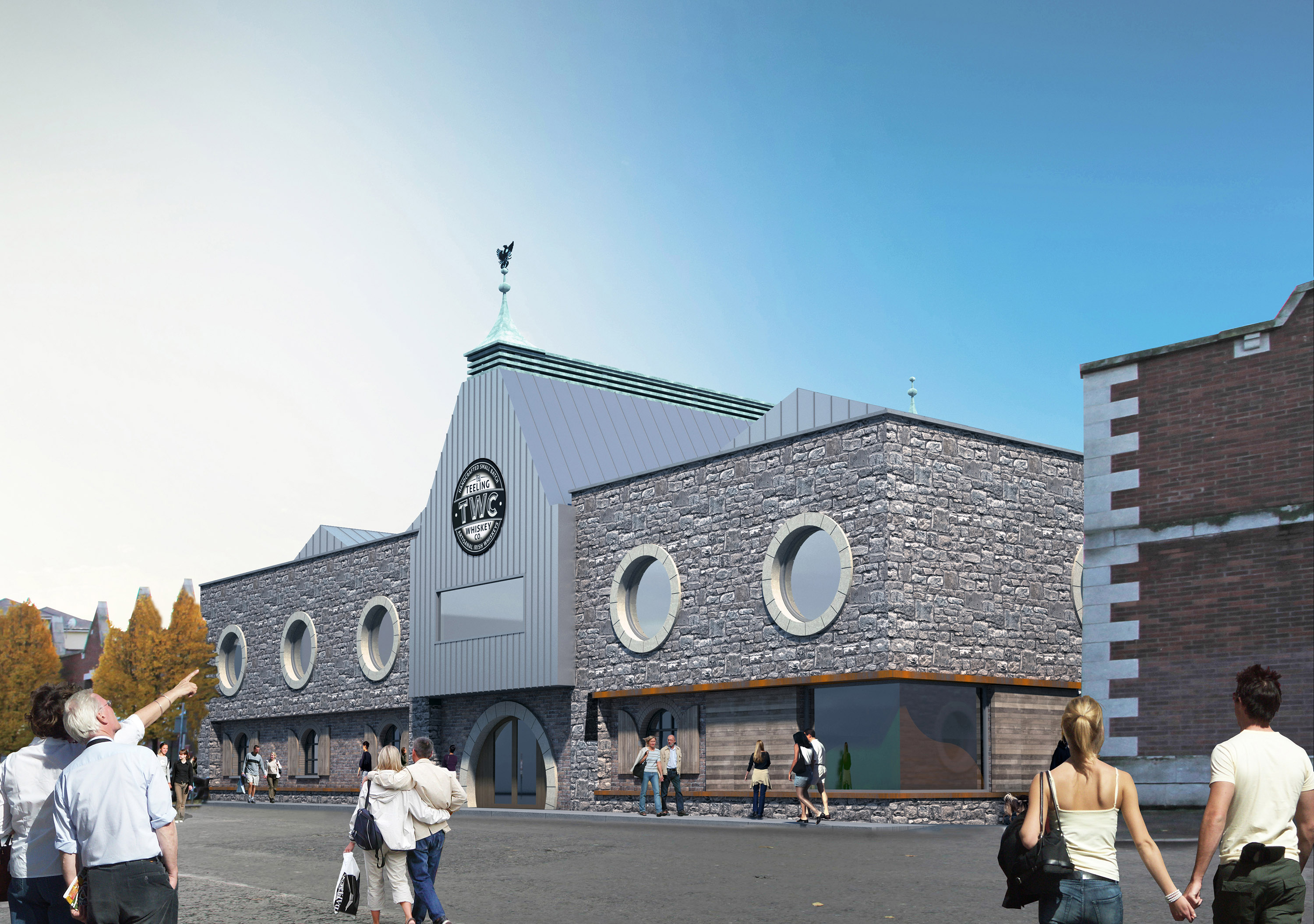 Artists drawing of the new Teeling Whiskey distillery