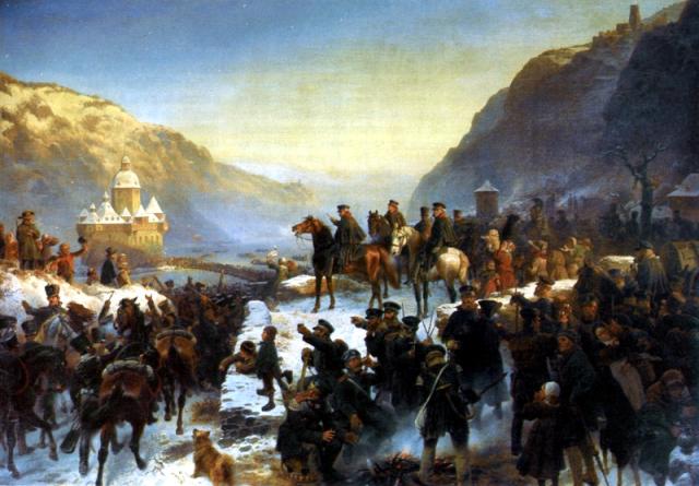 Wilhelm_Camphausen_-_Bluechers_Rheinuebergang_bei_Kaub