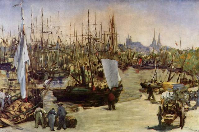 Édouard Manet: Harbour at Bordeaux, 1871