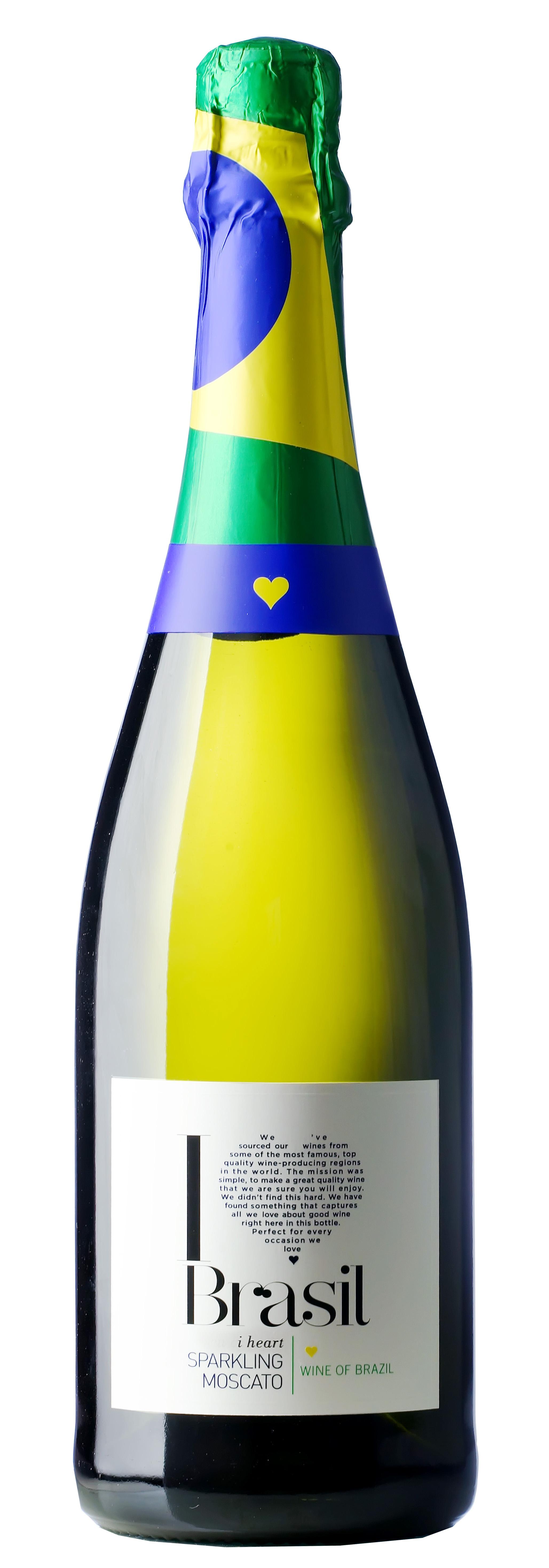 I heart Brasil Moscato Sparkling white full bottle