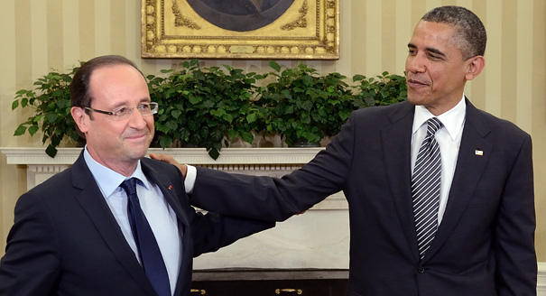 Obama serves Hollande 'cheap' US wine
