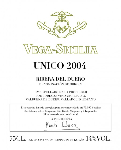 The new label gracing Unico 2004