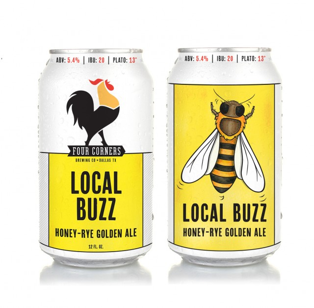 Local buzz honey-rye golden ale, Four Corners Brewing Co., Dallas