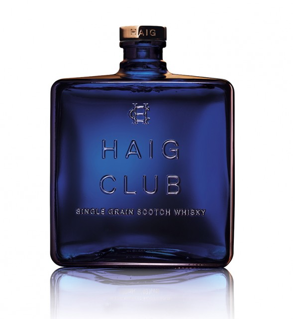 The Haig Club bottle takes cues from the fragrance industry