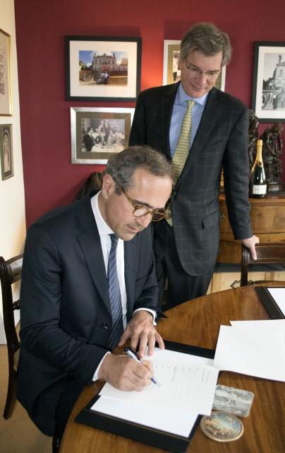 Bollinger's Etienne Bizot with Jean-Michel Valette MW