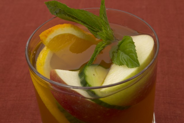 The classic way: A glass of Pimm's