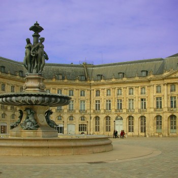 The famous Place de la Bourse, in the centre of Bordeaux