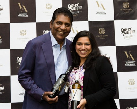Vijay Amritaj and winemaker Karishma Grover