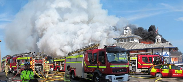 The pier in Eastbourne was the scene of a huge fire in July (Photo: Oast House Archives)