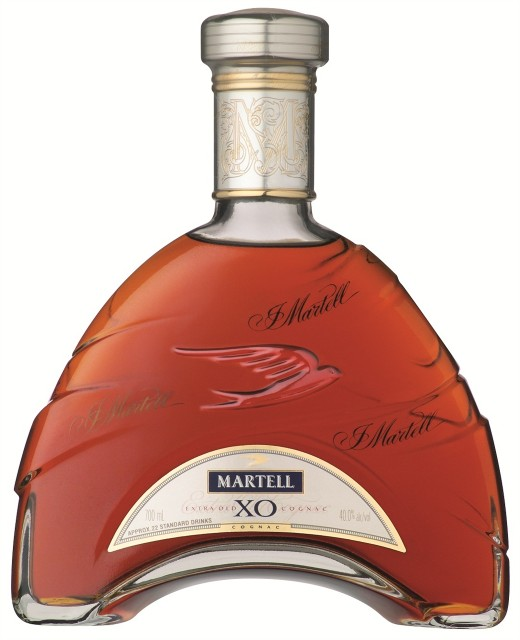 Net sales of Martell are down by