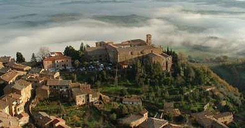 The hill town of Montalcino produces some of Italy's finest wines.