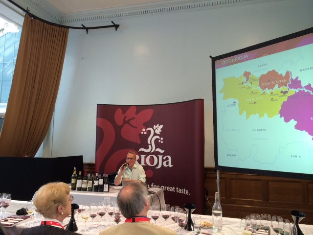 Tim Atkin MW shows off evidence of the Rioja revolution