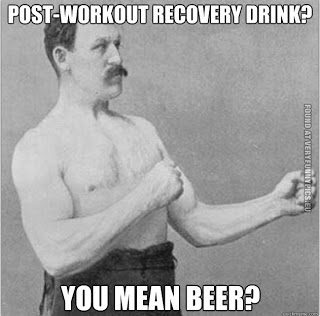 post workout beer