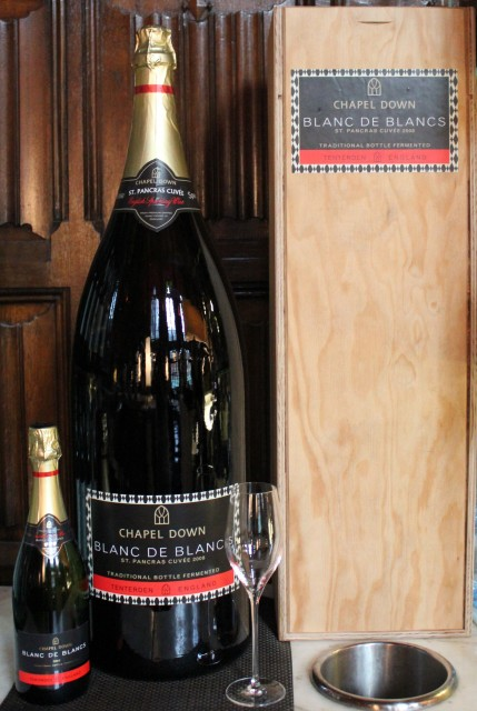 The Chapel Down Nebuchadnezzar bottle in now for sale at the St Pancras Renaissance Hotel in London (Photo: Chapel Down)