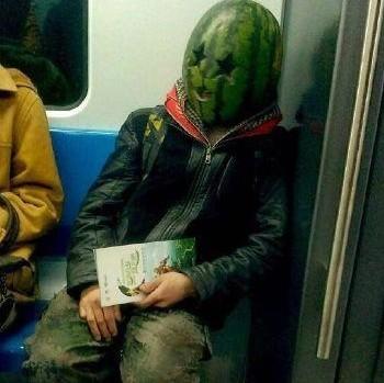Man Wearing Watermelon On Head Arrested