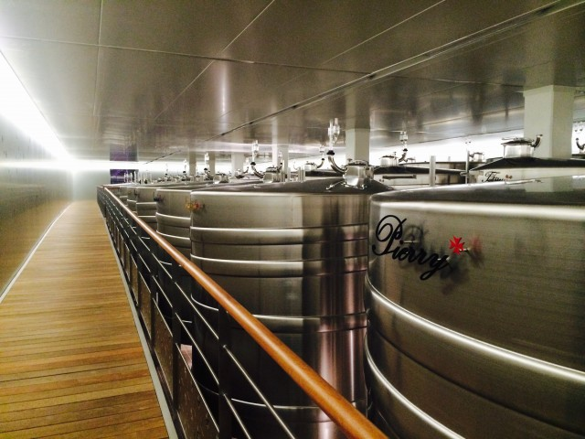Lanson new cellar with vats