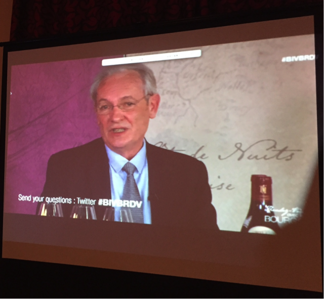 Jean-Pierre Renard responding to questions from participants around the world.