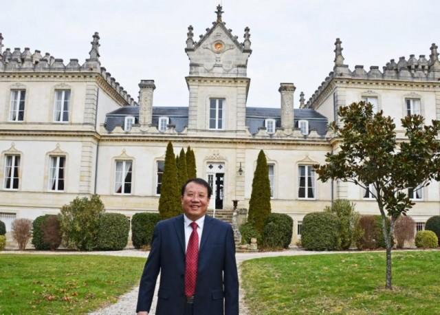 Jinshan Zhang proud new owner of Château du Grand Mouëys