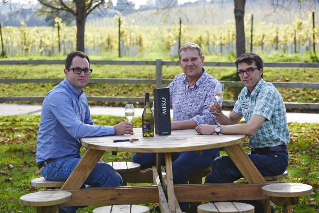 The Litmus Wines team: Mike Florence, John Worontschak and Matthieu Elzinga